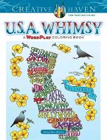 Creative Haven U.S.A. Whimsy A WordPlay Coloring Book by Jessica Mazurkiewicz