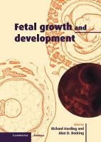 Fetal Growth and Development by Alan D. Bocking