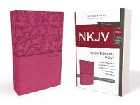 NKJV, Value Thinline Bible, Standard Print, Imitation Leather, Pink, Red Letter Edition, Comfort Print by Thomas Nelson