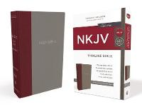 NKJV, Thinline Bible, Standard Print, Cloth over Board, Burgundy/Gray, Red Letter Edition, Comfort Print by Thomas Nelson