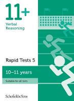 11+ Verbal Reasoning Rapid Tests Book 5: Year 6, Ages 10-11 by Schofield & Sims, Sian Goodspeed