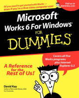 Microsoft Works 6 for Windows For Dummies by David Kay