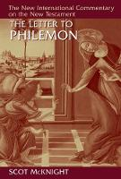 The Letter to Philemon by Scot McKnight