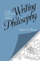 Writing Philosophy A Guide to Professional Writing and Publishing by