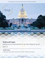Behavioral Science & Policy, Volume 3, Number 1 by Craig R., PhD. Fox