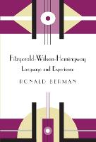 Fitzgerald-Wilson-Hemingway Language and Experience by Ronald Berman