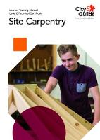Level 2 Technical Certificate in Site Carpentry: Learner Training Manual by