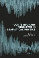 Contemporary Problems in Statistical Physics by George H. Weiss