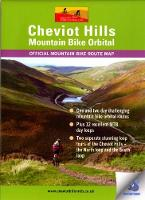 Cheviot Hills Mountain Bike Orbital Map Waterproof Route Map by Ted Liddle