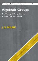 Algebraic Groups The Theory of Group Schemes of Finite Type over a Field by J. S. (University of Michigan, Ann Arbor) Milne