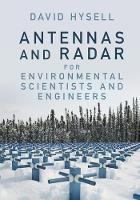 Antennas and Radar for Environmental Scientists and Engineers by David (Cornell University, New York) Hysell