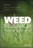 Weed Research Expanding Horizons by Paul E. Hatcher
