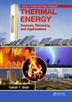 Thermal Energy Sources, Recovery, and Applications by Yatish T. (Norfolk State University, Virginia, USA) Shah