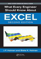 What Every Engineer Should Know About Excel, Second Edition by Blake K. Holman