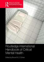 Routledge International Handbook of Critical Mental Health by Bruce (University of Auckland, New Zealand) Cohen