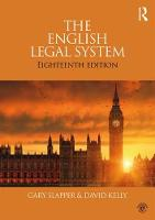 The English Legal System by Gary Slapper, David Kelly