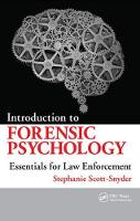 Introduction to Forensic Psychology Essentials for Law Enforcement by Stephanie Scott-Snyder