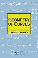 Geometry of Curves by J.W. Rutter