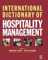 International Dictionary of Hospitality Management by Abraham Pizam