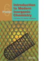 Introduction to Modern Inorganic Chemistry, 6th edition by R. A. Mackay