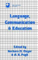Language, Communication and Education by Barbara Mayor
