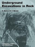 Underground Excavations in Rock by Evert Hoek