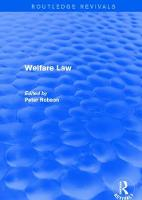 Welfare Law by Lucy A. Williams