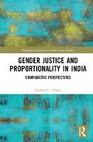 Gender Justice and Proportionality in India Comparative Perspectives by Juliette Gregory (Duke University, US) Duara