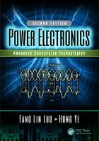 Power Electronics Advanced Conversion Technologies, Second Edition by Fang (AnHui University, China and Nanyang Technological University, Singapore) Lin Luo, Hong (Nanyang Technological Univers Ye