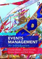 Events Management An Introduction by Charles Bladen, James Kennell, Emma Abson, Nick Wilde