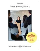 Create Only Public Speaking Matters by Kory Floyd