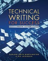 Technical Writing for Success by Sue Jefferson, Darlene (Pitt Community College (Retired)) Smith-Worthington