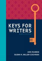 Keys for Writers by Susan K. Miller-Cochran, Ann Raimes