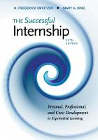 The Successful Internship by H. (University of Hartford) Sweitzer, Mary (Fitchburg State University) King