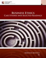 Business Ethics Case Studies and Selected Readings by Marianne (Arizona State University) Jennings