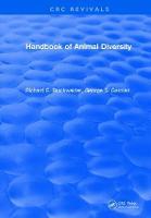 Handbook of Animal Diversity by Richard E. Blackwelder
