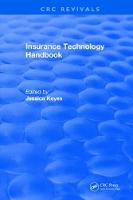 Insurance Technology Handbook by Jessica Keyes