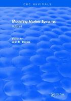 Modeling Marine Systems Volume I by A. M. Davies