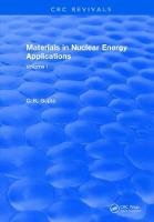 Materials in Nuclear Energy Applications Volume I by C.K. Gupta