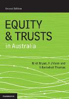 Equity and Trusts in Australia by Michael Bryan, Vicki Vann, Susan Barkehall Thomas