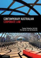 Contemporary Australian Corporate Law by Stephen (Australian National University, Canberra) Bottomley, Kath (Australian National University, Canberra) Hall, Pe Spender