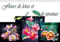 Fleurs De Lotus Et De Pivoines 2018 Dessins Au Crayon De Couleur by Dusanka Djeric