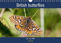 British Butterflies by Tony Mills 2018 Beautiful British butterflies in a month-to-view calendar. by Tony Mills