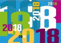 Calendrier typographique 2018 2018 Colore, joyeux et courageux ! by Claudia Kipp
