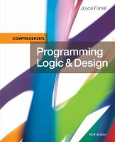 Programming Logic and Design, Comprehensive by Joyce Farrell