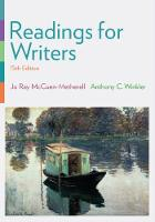 Readings for Writers (with 2016 MLA Update Card) by Jo Ray McCuen-Metherell