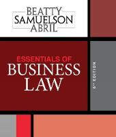 Essentials of Business Law by Jeffrey (Boston University) Beatty, Jeffrey (Boston University) Beatty, Patricia (University of Miami) Sanchez Abril