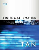 Finite Mathematics for the Managerial, Life, and Social Sciences by Soo (Stonehill College) Tan
