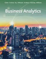 Essentials of Business Analytics by Michael (University of Cincinnati) Fry, Jeffrey (Wake Forest University) Camm, David (University of Cincinnati) Anderson, Willi