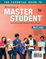 The Essential Guide to Becoming a Master Student by Dave Ellis